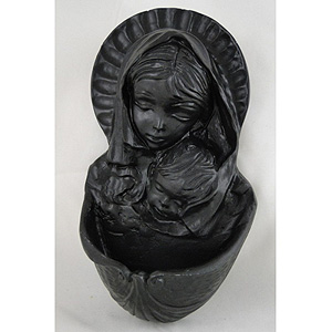 Our Lady and Child Irish Turf Waterfont (Great gift from the Emerald Isle)