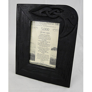 """Bog Oak Frame - 9"""" inches x 7"""" inches (Crafted in Ireland)"""