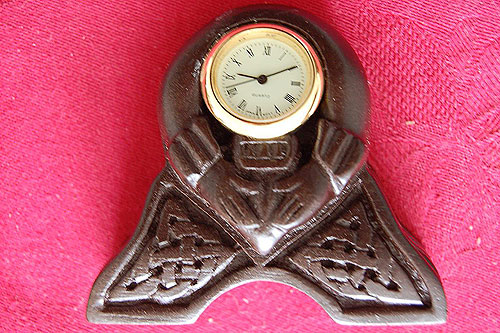 Claddagh Celtic Miniature Clock