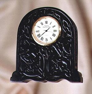 "Newgrange Irish Turf Clock (Measures 3.5"" x 3"" x 1.5"" inch)"