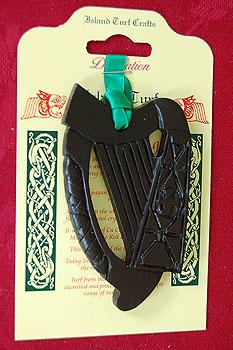 "Irish Harp Turf 3.5"" (Small Plaque)"