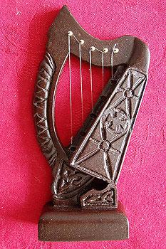 "Bardic Turf Irish Harp 6"" (Made from 5000 year old Turf)"