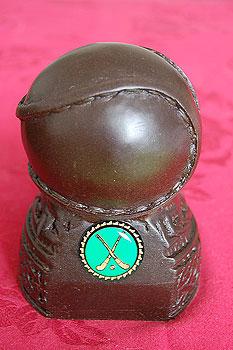 Irish Hurling Sliotar Statuette (Handcrafted from Irish Turf)
