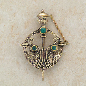 Irish Studded Celtic Brooch
