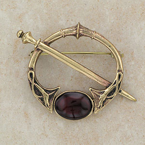Celtic Dog Bronze Brooch