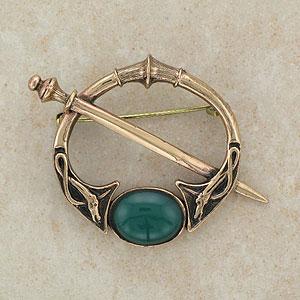 Bronze Jewellery Elegant Carnelian Bronze Brooch