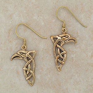 Celtic Bronze Eagle Earrings