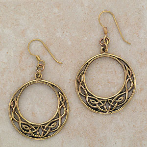 Celtic Loop Bronze Earrings