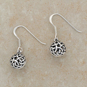 Exquisite Celtic Ball Earrings