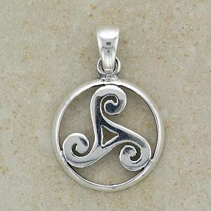 Celtic Spiral Silver Triskele