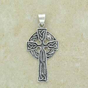 Celtic Cross Pendant with circular base