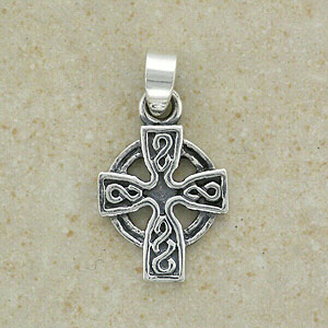 An Irish Celtic Cross Silver Pendant