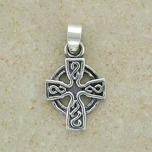 An Irish Celtic Cross Silver Pendant (from Ireland)