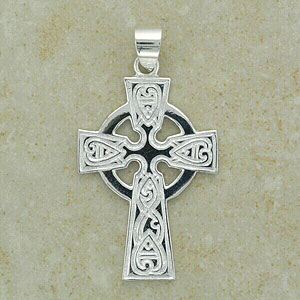 Shiny Celtic Pattern Cross Pendant