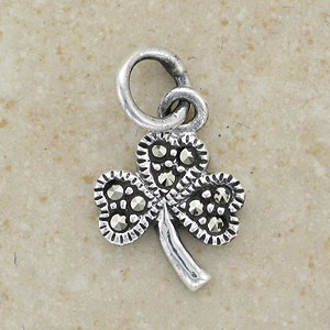 A Marcasite Silver Shamrock Pendant