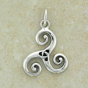 Celtic Tails Triskele Silver Pendant (.925 sterling silver)