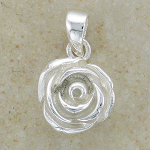 """Beautiful Rose Flower Pendant (with 16"""" inch silver chain)"""