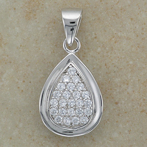 """Cz Micro Setting Pendant (Boxed with 16"""" chain)"""