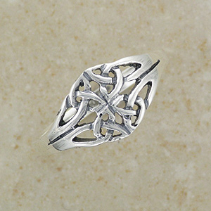 Celtic Twin Knot Silver Ring