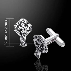 Celtic Cross Cufflinks (in Sterling Silver)