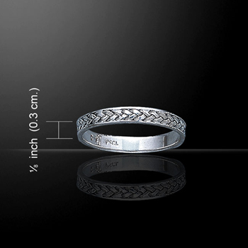 Celtic Braided Knot Silver Ring (sterling silver)