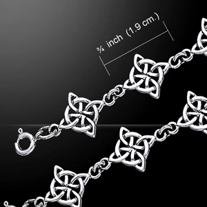 Celtic Knotwork Four Point Bracelet