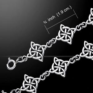 Celtic Knotwork Four Point Bracelet (in Sterling Silver)