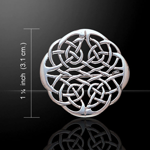 Celtic Weave Knot Pin Brooch with Sterling Silver