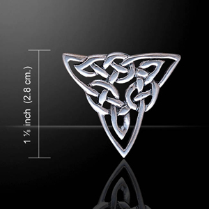 Celtic Knot Brooch Pin in Sterling Silver