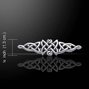 Celtic Knot Silver Brooch (Triangular)