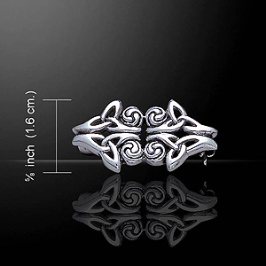 Irish Celtic Knot Triquetra Brooch