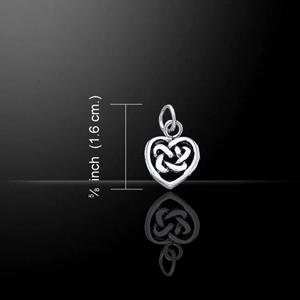 Celtic Knot Heart Shape Charm (in Sterling Silver)