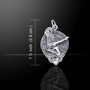 Claddagh Irish Dancer Celtic Silver Charm (Designed by Courtney Davis)