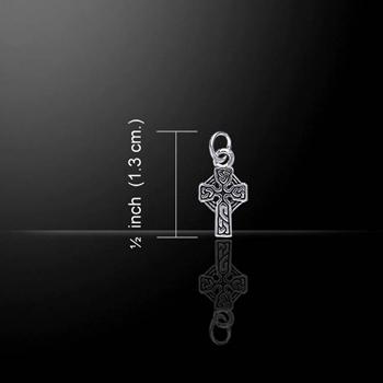 Spiritual Irish Celtic Cross Silver Charm (oldest symbol of christianity)
