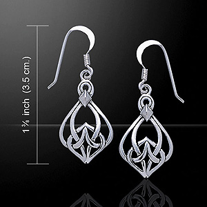 Celtic Knotwork Pattern Sterling Silver Earrings