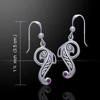 Celtic Bird Silver Earrings - Perfect gift for bird lover