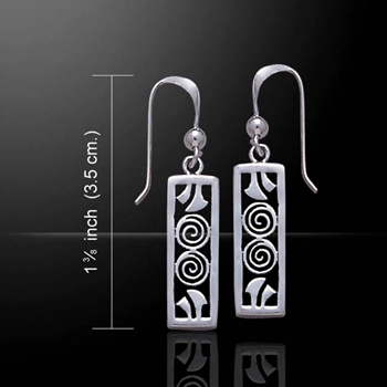 Celtic Double Spiral Sterling Silver Earrings