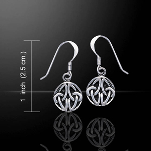 Eternal Connection Celtic Knotwork Ball Silver Earrings