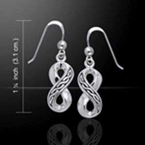 Silver Celtic Infinity Earrings