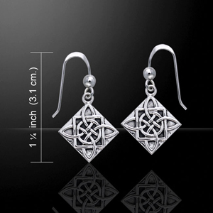 Celtic Knotwork Four Point Earrings