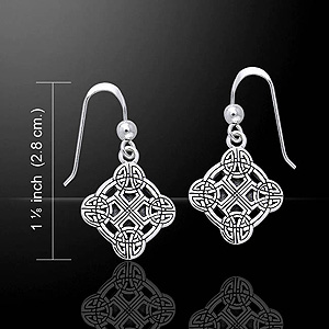 Clonmacnoise Cross of Scriptures Silver Earrings