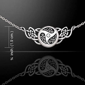 Celtic Knots Threefold Silver Necklace