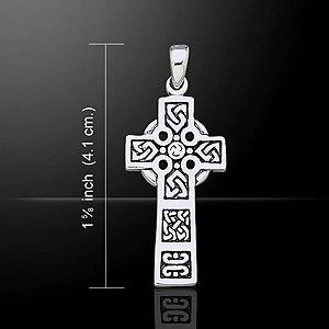 Classic Celtic Crucifix Silver Pendant (Cast in sterling silver)