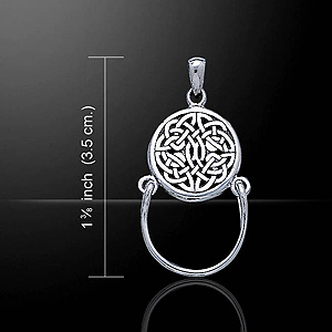 Celtic Charm Holder Silver Pendant