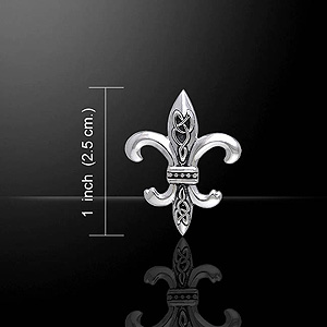 Ancient Fleur De Lis Celtic Silver Pendant