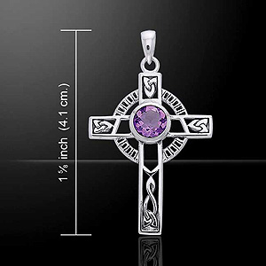 Celtic Cross Knotwork Silver Pendant