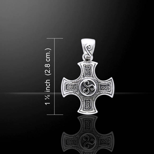 Harmony Cross Sterling Silver Pendant