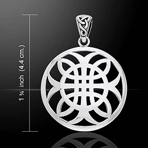 Celtic Knotwork Cross of Harmony Silver Pendant
