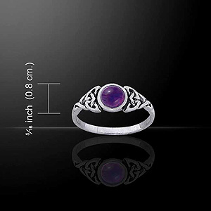 Stunning Celtic Knotwork Ring - Choose your Gemstone