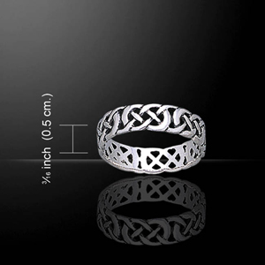 Open Celtic Knot Silver  Ring